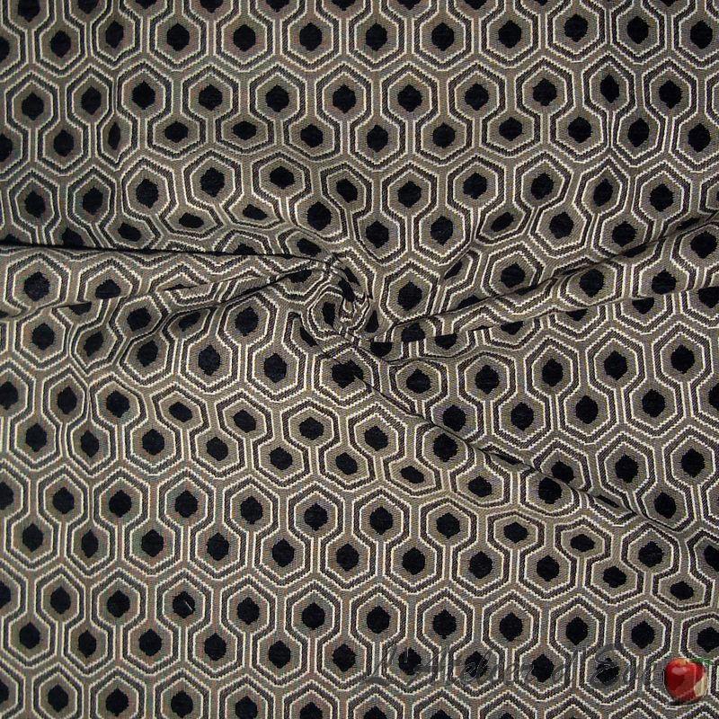 Optimo (9 colors) fabric furniture graphic jacquard Thévenon