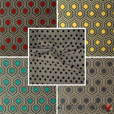 Optimo (9 colors) graphic jacquard upholstery fabric for seats Thévenon