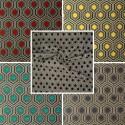 Optimo (9 colors) fabric roll graphic jacquard Thévenon the room furnishings or half room