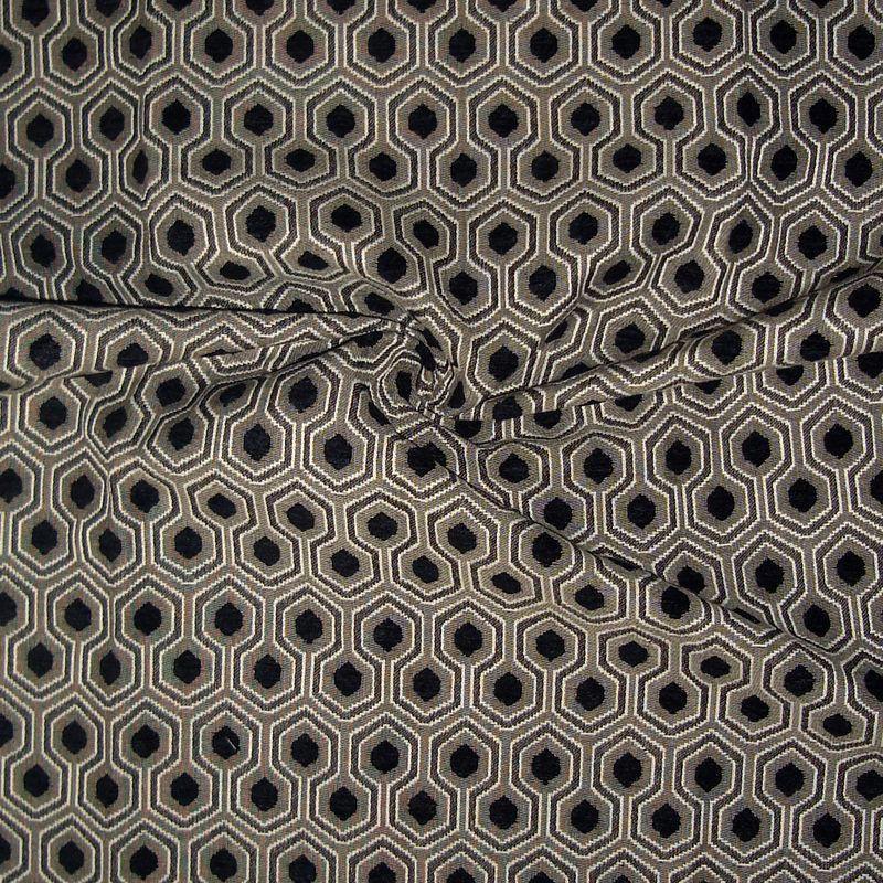 Rouleau tissu tapissier jacquard Optimo noir Thevenon Paris