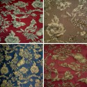 The Grenades Jacquard (4 colors) fabric floral jacquard Thévenon the room furnishings or half room roll