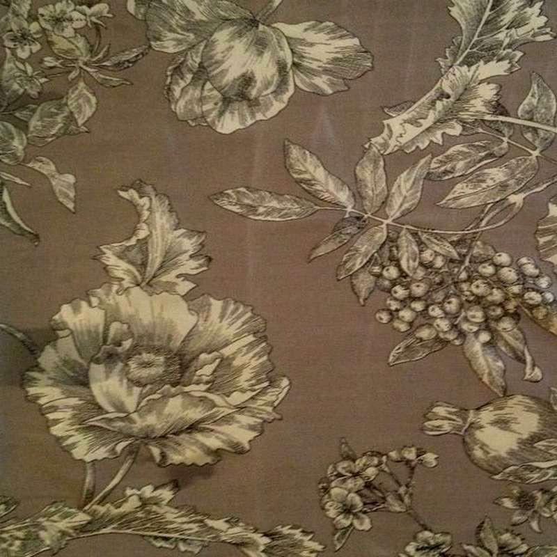 Les Grenades: Rouleau tissu ameublement jacquard au mètre thème fleuri par Thevenon Paris