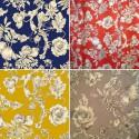 Grenades (4 colors) fabric Cotton satin furniture wide Thévenon