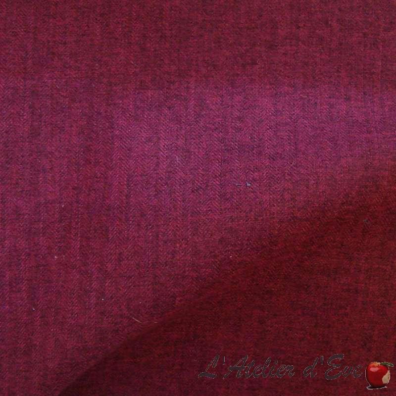 Dublin (5 coloris) Tissu ameublement jacquard L.143cm uni 1929913 Thevenon le metre