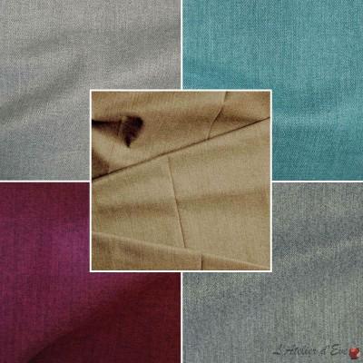 Dublin (5 coloris) Rideau à oeillets prêt à poser jacquard uni Thevenon Le rideau