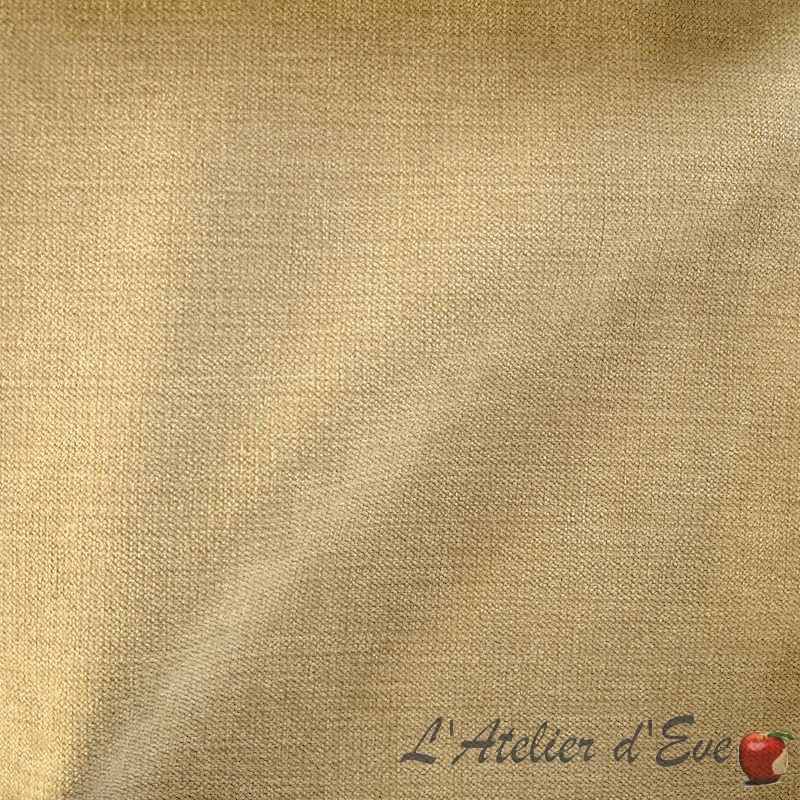 """Softness"" Shed 30% Roll Thevenon velvet fabric Room / Half-piece"