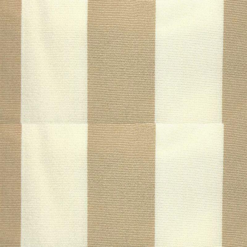 Tissus et toiles exterieures rayée blanc/beige Bache deperlante au metre