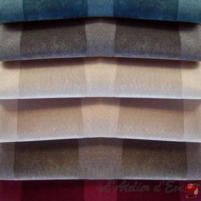 Dolce (6 coloris) Rideau à oeillets prêt à poser jacquard rayure Thevenon Le Rideau
