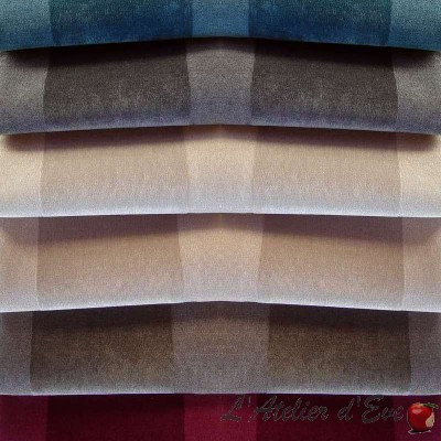 Dolce (6 colours) roll fabric upholstery for seat jacquard stripe Thévenon Piece or half room