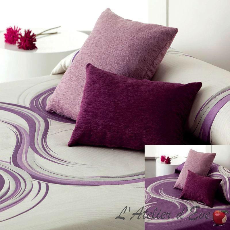 Aimé Couvre-lit réversible blanc-violet-Reig Marti
