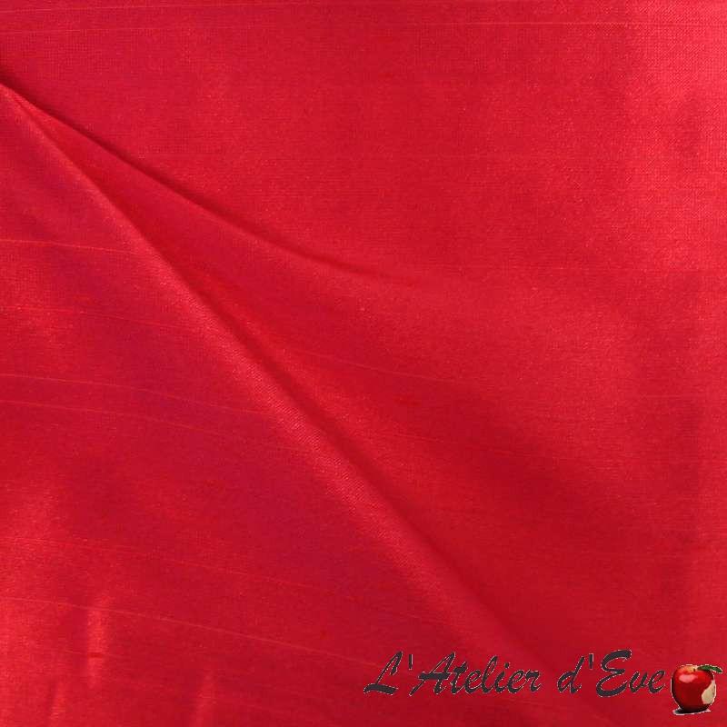 imperial-framboise-rideau-made-in-france-tissu-aspect-soie thevenon paris