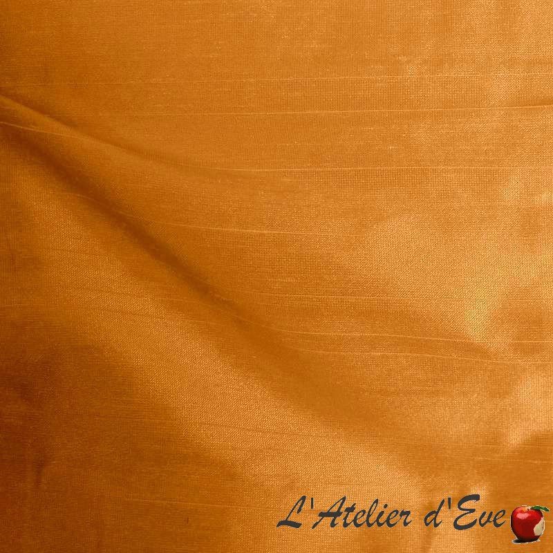 Impérial papaye Thevenon Paris Achat rouleau tissu aspect soie sauvage en gros