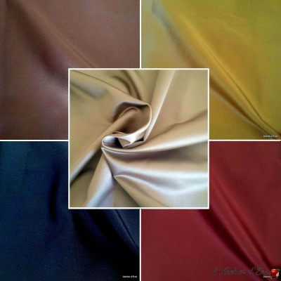 Faubourg (18 coloris) Tissu ameublement satin spécial siège Thevenon