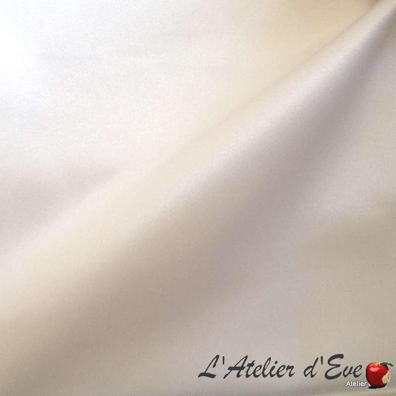 """Rouleau tissu satin blanc 100% polyester """"Faubourg"""" Thevenon Paris vendu en pièce"""