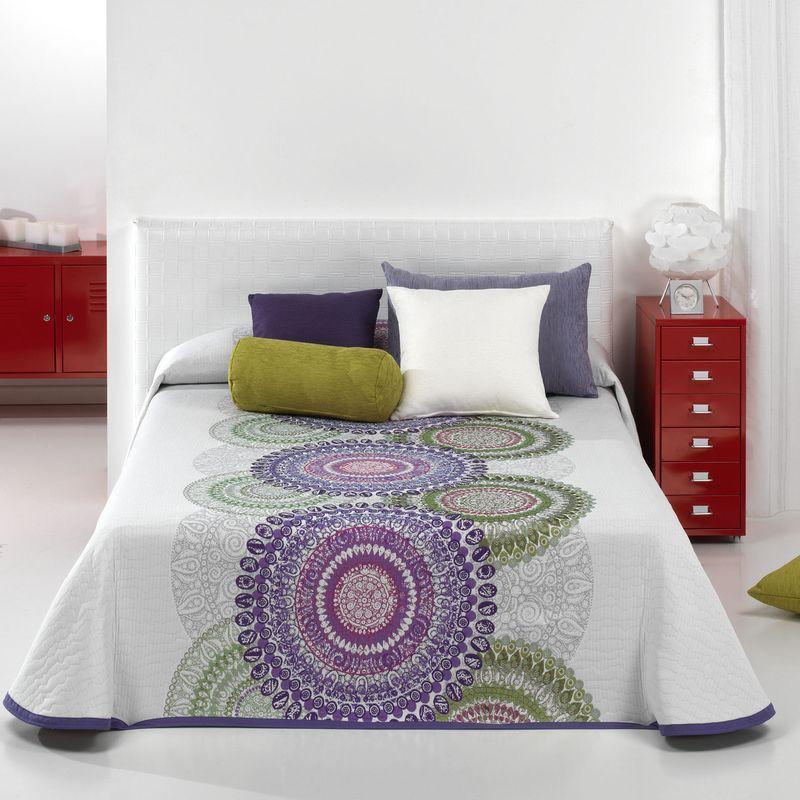 Agnes 4 size bedspread reversible white/chocolate C.05 Reig Marti