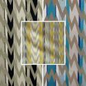Flash (3 coloris) Rideau à oeillets prêt à poser jacquard zig zag brodé Thevenon Le Rideau