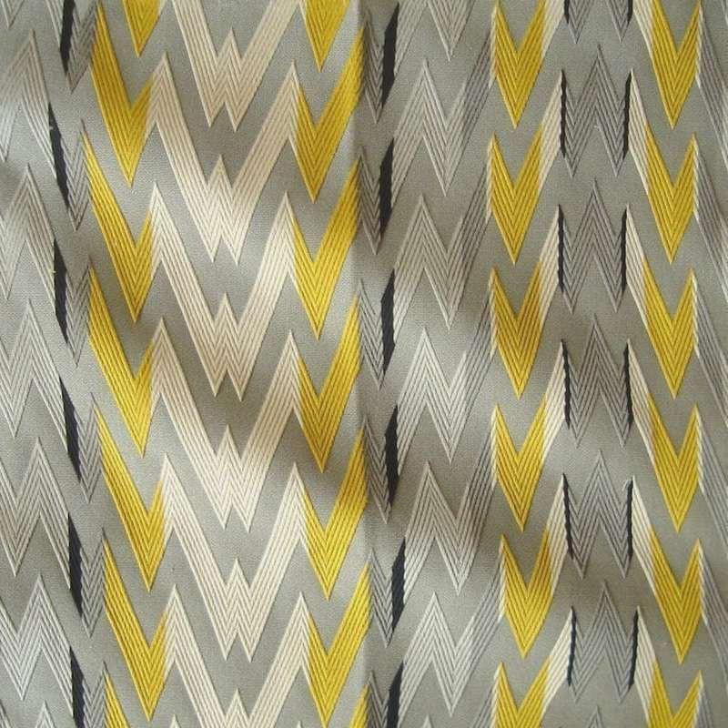Flash (3 colors) fabric roll upholstery jacquard zig zag embroidered Thévenon room/half room