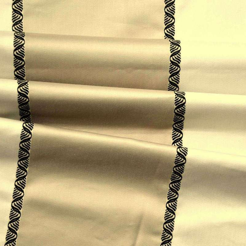 Paparazzi (2 colours) furnishing jacquard fabric large stripe Thévenon