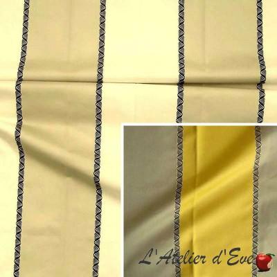 Paparazzi (2 coloris) Rideau à oeillets prêt à poser jacquard large rayure Thevenon Le Rideau