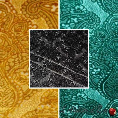 Sultan (3 coloris) Rouleau tissu ameublement velours gaufré Thevenon Pièce/Demi-pièce