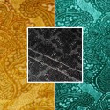 Sultan (3 colors) fabric roll upholstery velvet embossed Thévenon room/half room