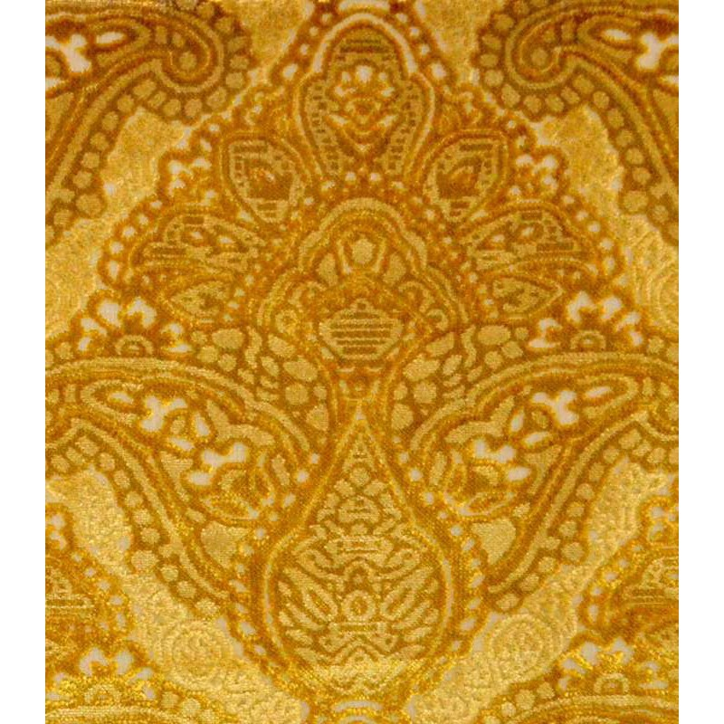 Sultan or Tissu ameublement tapissier velours gaufré Thevenon