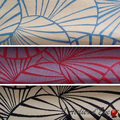 Nympheas (3 coloris) Tissu ameublement jacquard réversible Thevenon