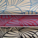Water lilies (3 colours) roll fabric reversible jacquard for seat Thévenon room/half room furniture