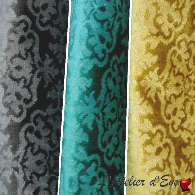 Sultan (3 colors) fabric upholstery embossed velvet Thévenon