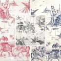 Mille et une nuits (3 coloris) Rideau à oeillets prêt à poser toile de jouy orientale Thevenon Le Rideau