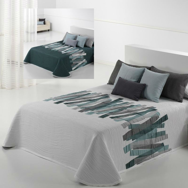 dessus de lit conti reig marti aux motifs g om riques superbes lavable. Black Bedroom Furniture Sets. Home Design Ideas
