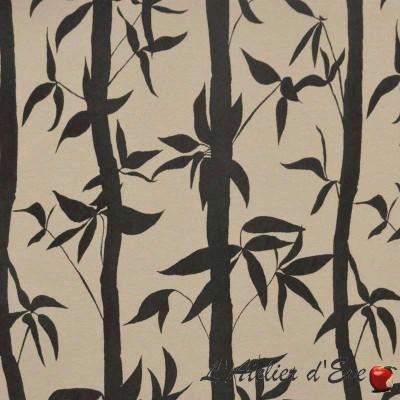 Take fabric upholstery jacquard pattern bamboo Thévenon