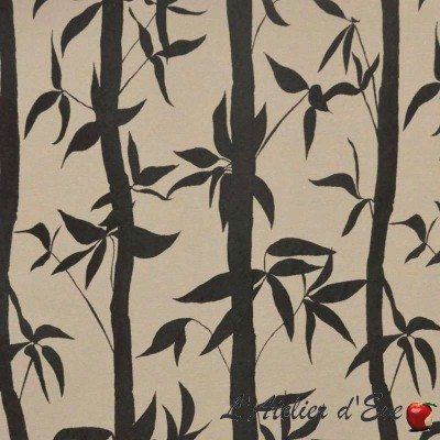 Take roll fabric upholstery jacquard pattern bamboo Thévenon room/half room