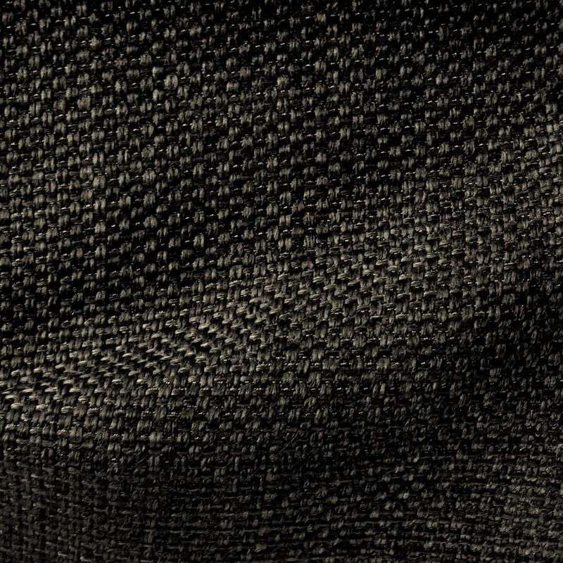Bellini - Tissu ameublement armure faux uni noir pour sièges, fauteuils - Thevenon