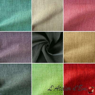 Bellini (26 coloris) Rideau à oeillets prêt à poser faux uni type panama Thevenon Le Rideau