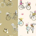 """A Bicyclette"" Tissu ameublement coton Thevenon"