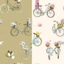 A bicycle (2 colours) canvas bachette cotton wide for seat Thévenon