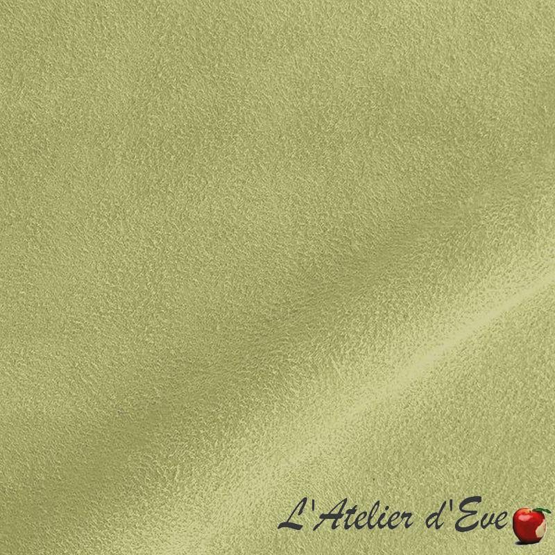Tissu ameublement uni coloris amande aspect alcantara