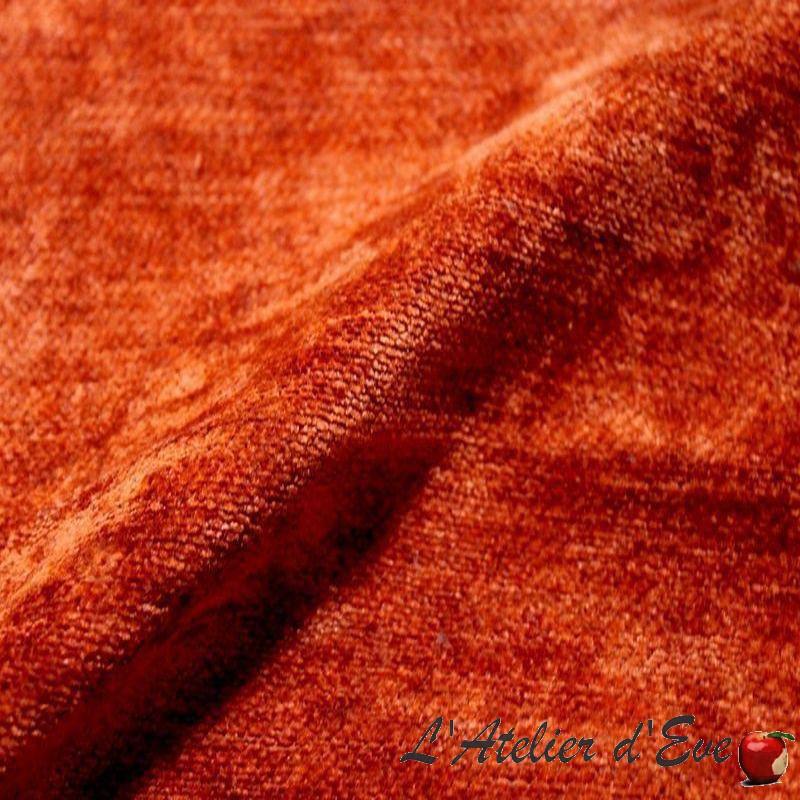 tissu-ameublement-cocon-velours-brique-lavable
