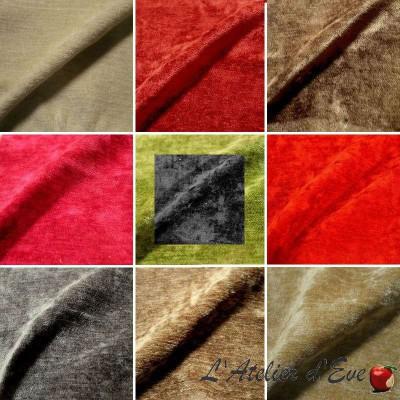 Cocon Tissu ameublement pour sièges velours uni lavable