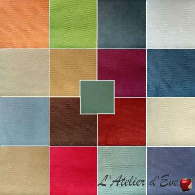 Whitney 40 coloris Tissu ameublement velours uni anti-tache pour sièges