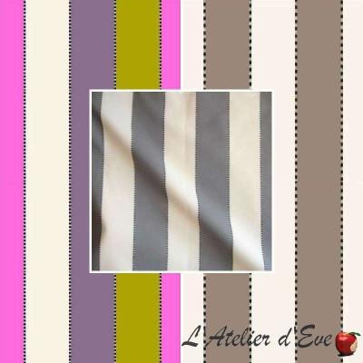 Armand (3 coloris) Tissu ameublement bachette coton grande largeur rayure Thevenon le metre