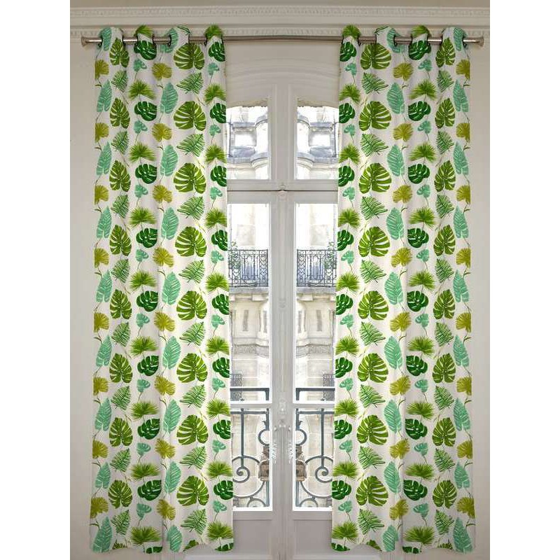 Sunset (2 colours) curtains with eyelets ready to put ground sheet Thévenon the curtain