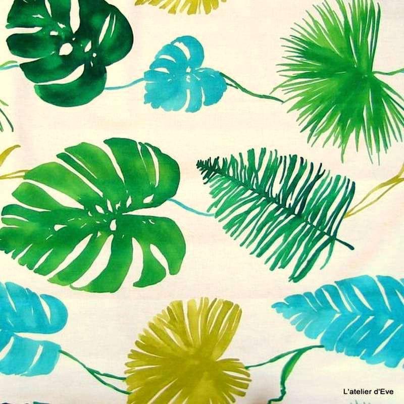 Sunset: Tissu 100% coton pour tapissier fond blanc grande largeur Thevenon Paris