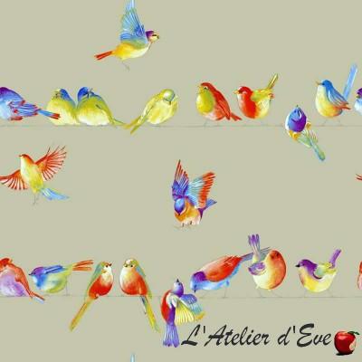 """""""Happy Birds"""" Remise 30% Rouleau tissu enduit Thevenon Pièce/demi-pièce"""