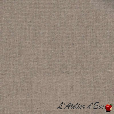 """Naturel lin"" Nappe enduite Made in France Thevenon"