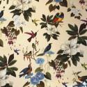 Il etait une fois Rouleau tissu percale coton Oiseaux et fleurs Thevenon Piece ou demi piece