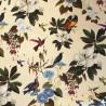 Il etait une fois Rouleau tissu percale d' ameublement coton oiseaux et fleurs Thevenon