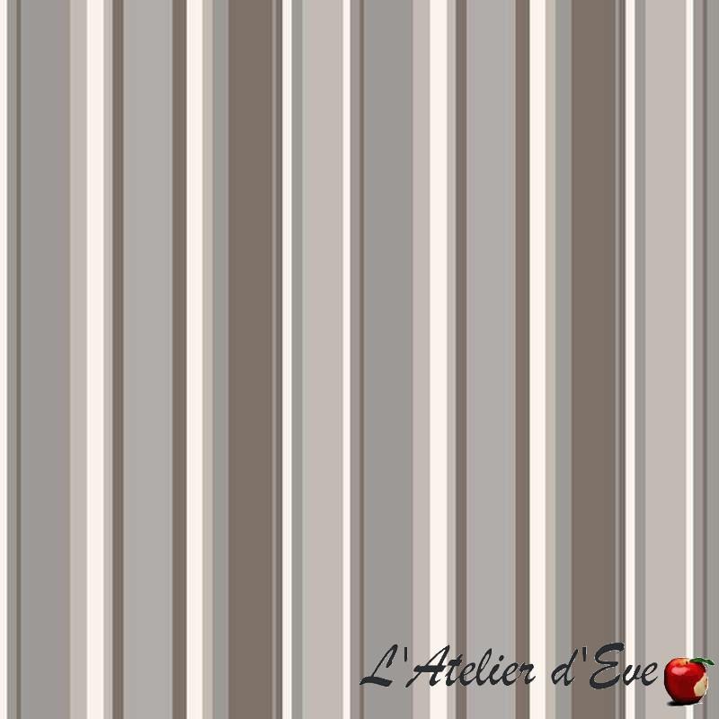 Rouleau tissu enduit Paradoxe gris fond taupe Thevenon La piece ou demi piece