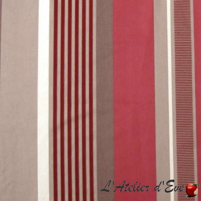 Othello (3 colors) fabric furniture wide stripes flockees Thévenon